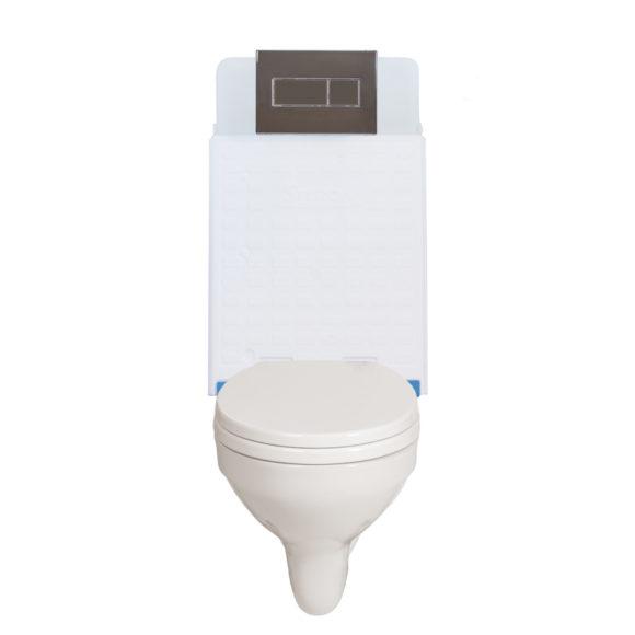 E-02 STY-741 NIAGARA WC tartály - STY-800-2 króm nyomógombbal + falra szerelhető WC fajansz