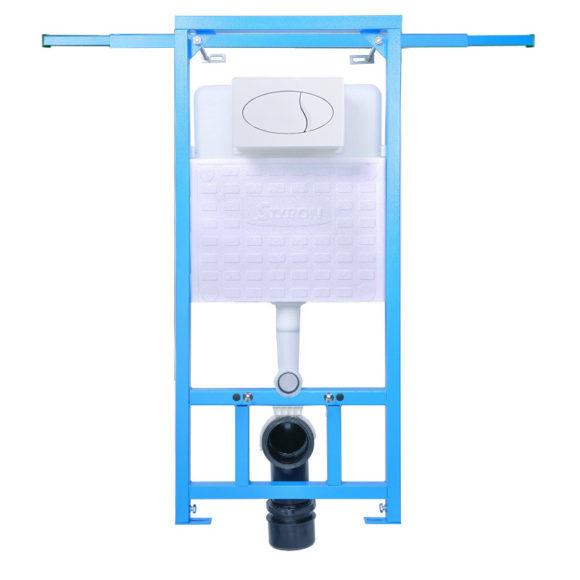 STY-742-B NIAGARA FIX beépíthető WC tartály oldalfali rögzítéssel + fehér nyomólappal